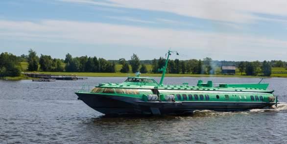 Hydrofoil trip to Kizhi